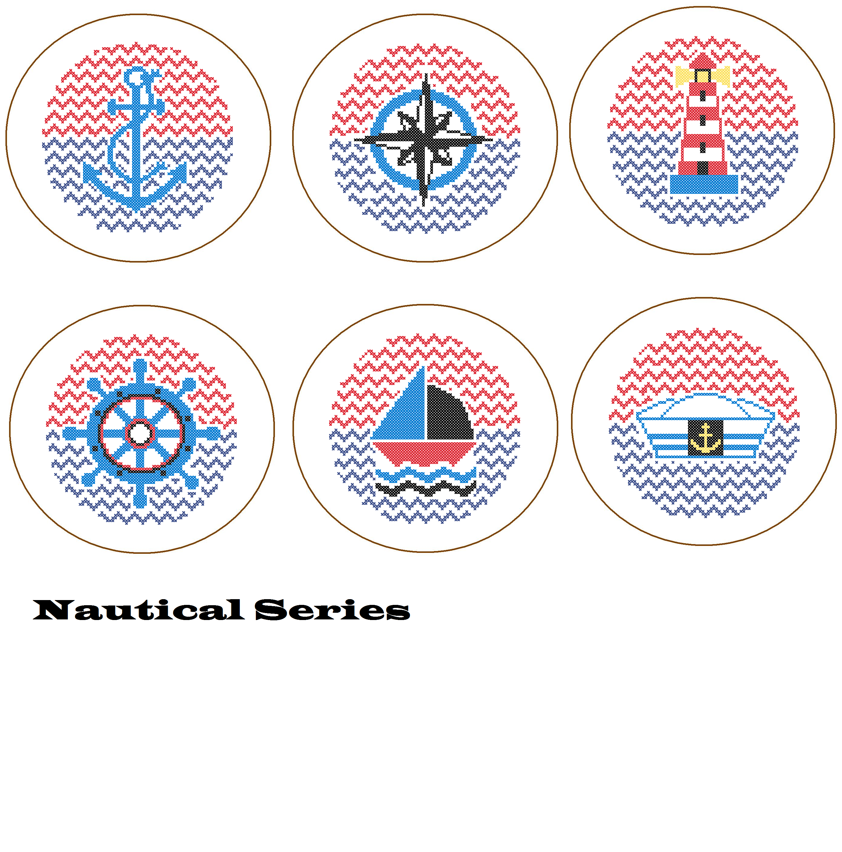 Nautical embroidery designs free makaroka instant download nautical compass cross stitch pattern bankloansurffo Gallery