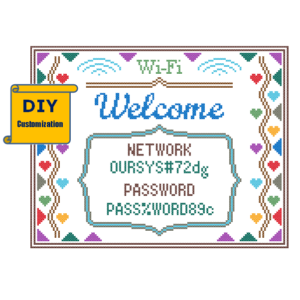 wifi welcome cross stitch pattern
