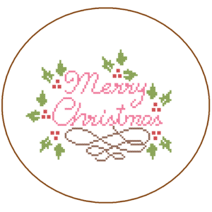 Modern Merry Christmas cross stitch
