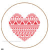 Heart cross stitch Free Pattern
