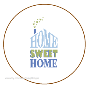 Home Sweet Home Blue Green 2