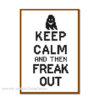 Keep calm - freak out cross sitch