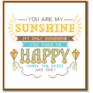 You are my sunshine cross stitch pattern