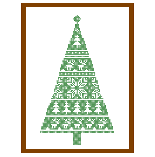 Christmas Tree Pattern.Modern Christmas Tree Cross Stitch Pattern Christmas Ornament Home Decor Tree Decoration Cards Great Gift Instant Download