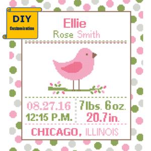 Pink Bird bird sampler