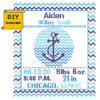 Anchor Birth Announcement cross stitch Pattern