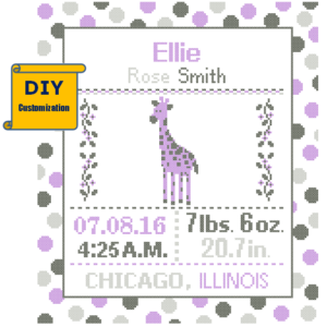 Purple Giraffe birth record