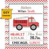Fire Engine Birth Record