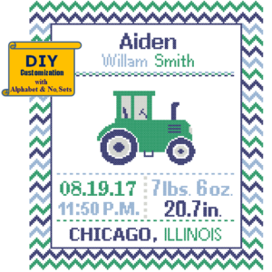 Green Tractor birth recoed