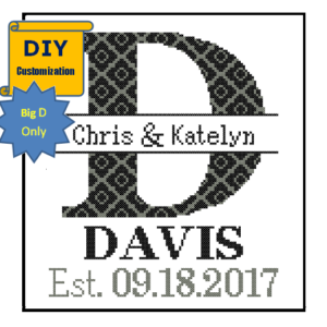 Monogram D cross stitch