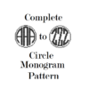 circle monogram cross