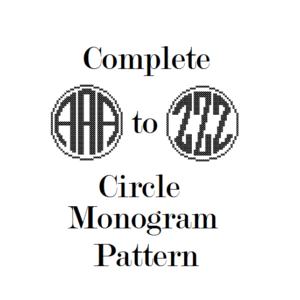 circle monogram cross