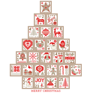 Nordic Advent tree cross stitch