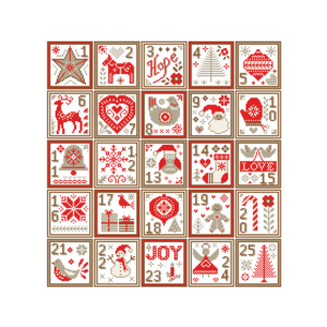 Christmas sampler cross stitch
