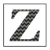 Chevron Z Monogram cross stitch