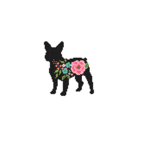Frenchie BullDog silhouette cross stitch
