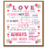 Love is patient cross stitch