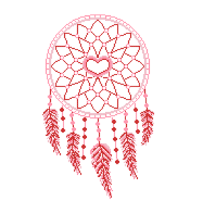 Rec dream catcher cross stitch