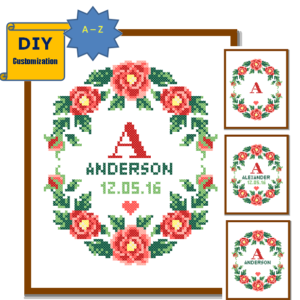 Red rose wreath wedding Record