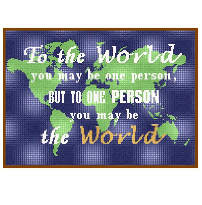 World love cross stitch