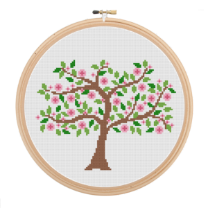Spring Tree cross stitch