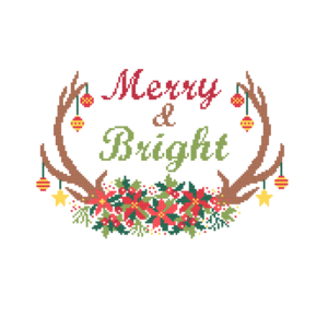Merry and Bright cross stitch