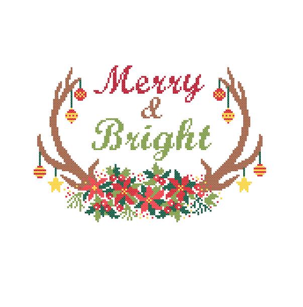 Merry and Bright cross stitch