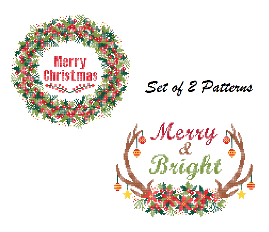 Merry Chrsitmas cross stitch