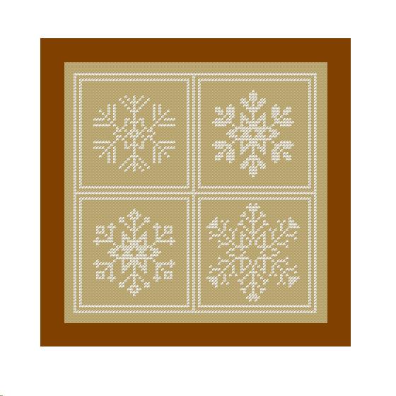 snowflakes cross stitch