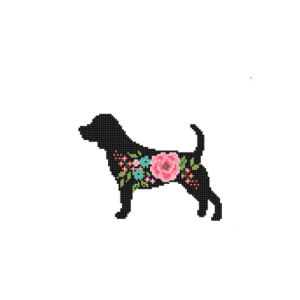 Beagle dog cross stitch
