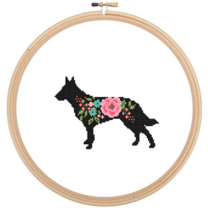 Blue Heeler Dog cross stitch