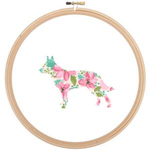 lue Heeler Dog cross stitch