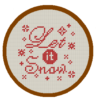 Let it snow cross stitch