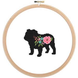 English Bulldog cross stitch