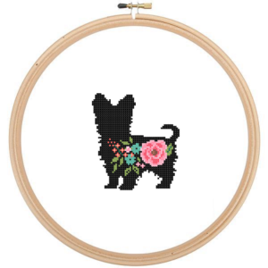 Yorkshire Terrier Dog cross stitch