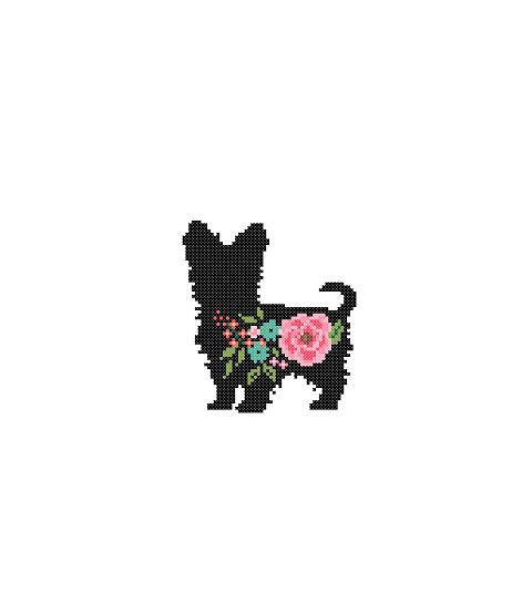Yorkshire Terrier Dog cross stitch