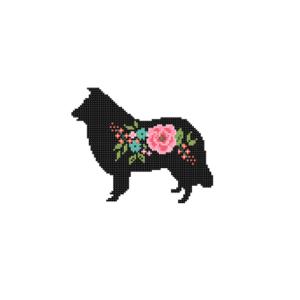 Border Collie Dog cross stitch