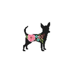 Chihuahua Dog cross stitch