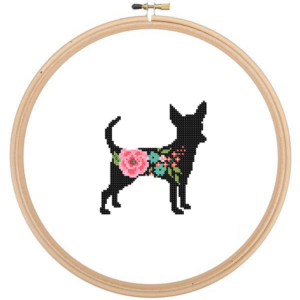 Chihuahua Dog cross stitch