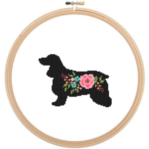 Cocker Spaniel Dog cross stitch