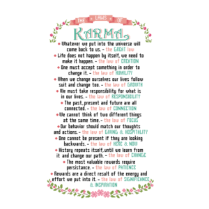 Laws of Karma cross stitch