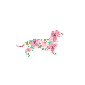 Dachshund cross stitch