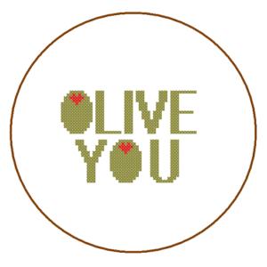 Olive you cross stitch
