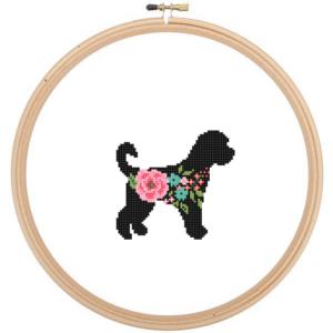 Golden Doodle cross stitch