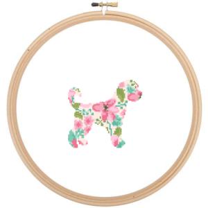 Golden Doodle Dog cross stitch