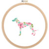 Greyhound Dog cross stitch