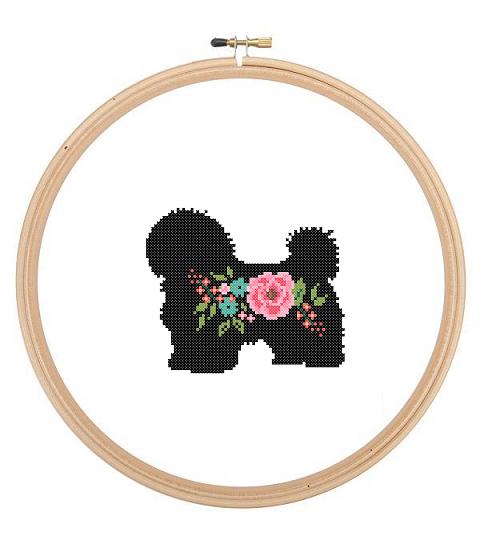 Havanese cross stitch