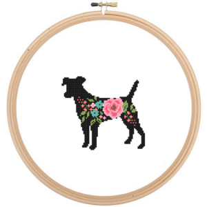 Jack Russell cross stitch