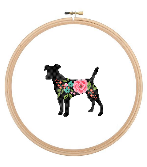 Jack Russell cross stitch