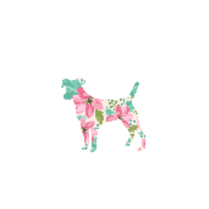 Jack Russell Dog cross stitch
